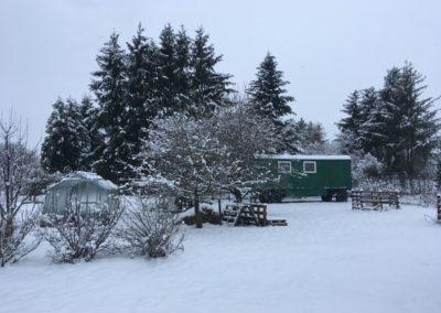 maringotka v zimě